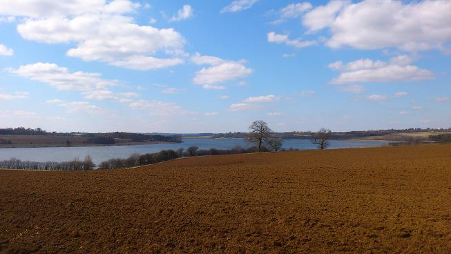 Spring sunshine over Pitsford Reservoir